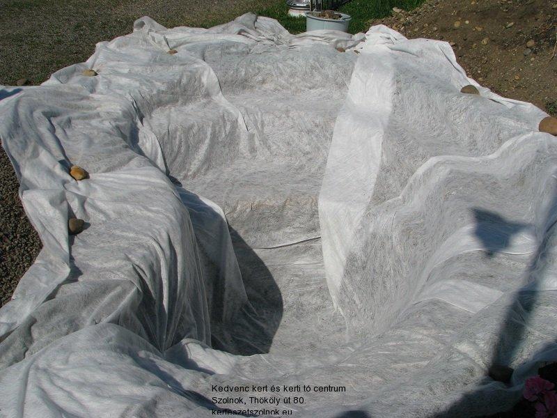Geotextil a tómederben