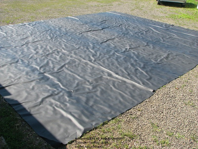 Tófólia (1mm vastagságú) puhítása a napon